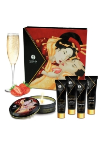 Shunga Geisha Sparkling Strawberry Wine Set