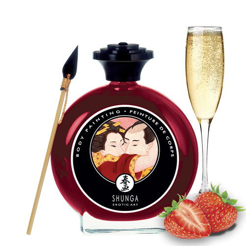 SHUNGA Body Painting Strawberry Wine - czekolada do pisania po ciele