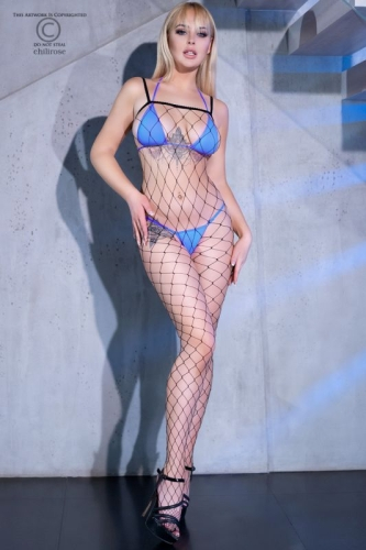 Big Hole Fishnet - Bodystocking