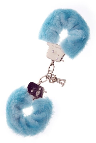 Metal Handcuff With Plush Blue